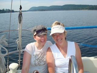 Shelley and me sailing 2009